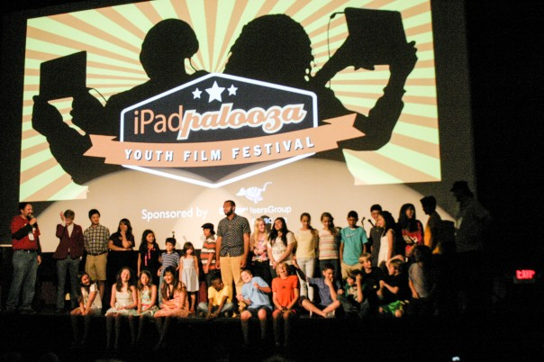 Kids on stage for the Youth Film Festival (credit: Richard Johnson)