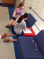 Use of hallway space for learning at Pershing