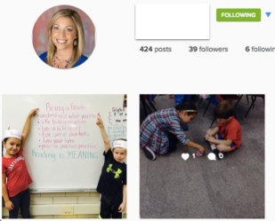 My daughter's 1st grade teacher has a class Instagram!